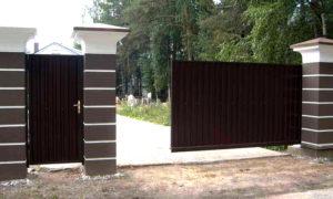 заказать ворота откатные с электроприводом недорого в Москве