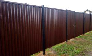 Забор из Профнастила с выносными столбами