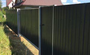 Забор, калитка, ворота из профнастила