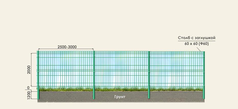 3d секционный забор мск
