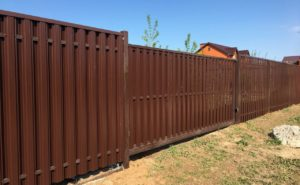 Забор и ворота из евроштакетника